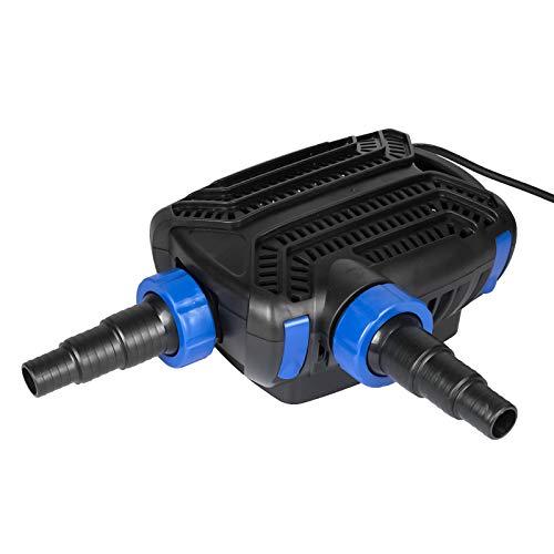 Yorbay CTF-5800B SuperECO Teichpumpe 40W 5200 L/H mit 10m langem Stromkabel für Garten, Teiche, Süß- und Meerwasser