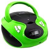 CD-Player | Tragbares Stereo Radio | Stereo Radio | USB | CD/MP3 Player | Radio | Kopfhöreranschluss | Aux in | LCD-Display | (Grün)