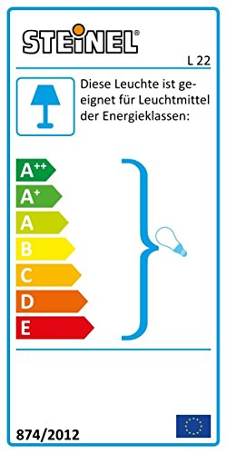 Steinel Außenleuchte L 22 - Wandlampe, 180° Bewegungsmelder, schwenkbar, 10 m Reichweite, Edelstahlblende, 60 Watt, E27