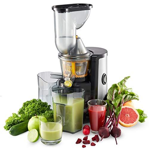 Slow Juicer Obst- und Gemüseentsafter, BPA-frei, Twinzee - 2 Siebe (Fein und grob) - Großer Einfüllschacht (75 mm), CE-Kennzeichnung, Leichte Reinigung dank Mitgelieferter Bürste