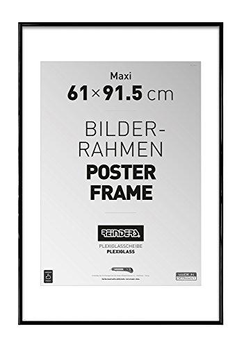REINDERS Bilderrahmen für Maxi Poster 61 x 91,5 cm - schwarz Kunststoff
