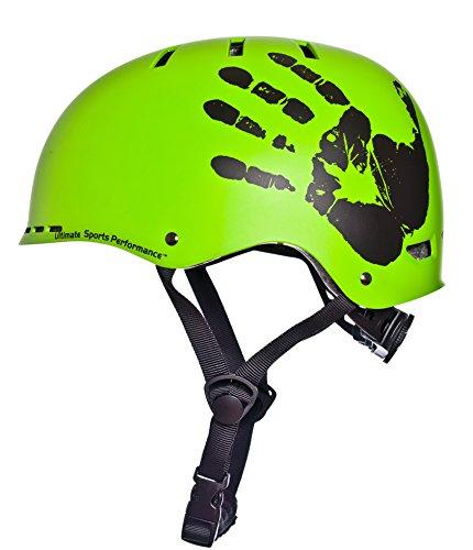 Sport DirectTM BMX-Skate Helm grün 55-58cm CE EN1078 TÜV Zulassungen