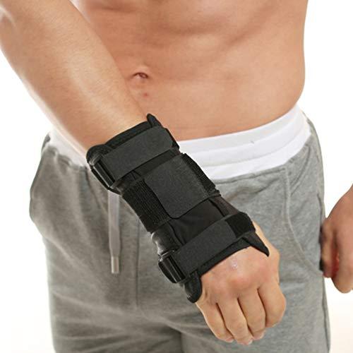 Lin-Tong Handgelenkschützer Abnehmbar Einstellbar Haltbar Handgelenkstütze Handgelenkstützen Pu-Leder Bruch Handgelenkstütze