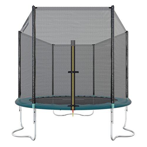 Ultrasport Outdoor Gartentrampolin Jumper, Trampolin Komplettset inklusive Sprungmatte, Sicherheitsnetz, gepolsterten Netzpfosten und Randabdeckung, bis zu 120kg, Grün, Ø 183 cm