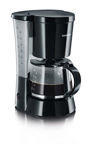 Kaffeeautomat, ca. 800 W, bis 10 Tassen, Schwenkfilter 1 x 4, transparenter Wasserbehälter mit Wasserstandsanzeige, Warmhalteplatte, automatische Abschaltung