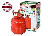 Party Factory Heliumgasflasche Heliumgas Helium Gasflasche Balloon Gas Ballongas Einweg für ca. 20 Ballons + Metallic Tattoos