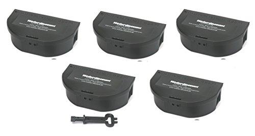 5 Mäuseköderboxen Köder-Discount Köderbox Maus schwarz Köderstation für Mäusegift Mäuseköder
