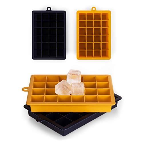 Blumtal Eiswürfelform Silikon 2x24er Pack - Leichtes Herauslösen der Eiswürfel, Silikon Form, 2er Set