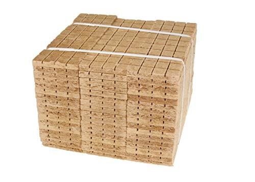 W-mtools Kaminanzünder 2520 Stück Holz & Wachs Anzündwürfel Öko Kohleanzünder Grill