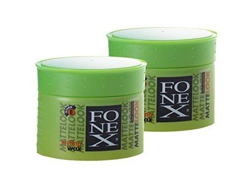 2 x FONEX Matte-Look Haarwachs 100g  Bestseller  Extremer Halt  Kein Verkleben | Professional Hair-Wax für Matte-Look-Effekt | Wachs-Gel, Hair-Styling für Männer mit Surfer Style | Haar-Wax für starken Halt widerspenstiger Haare
