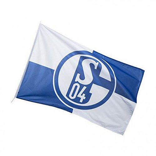 FC Schalke 04 KARO Flagge Fahne Hissfahne, Blau, 150 cm x 100 cm