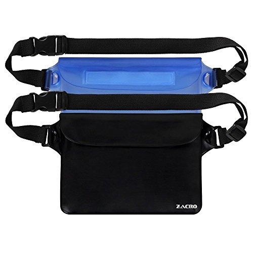Zacro 2 Stück Wasserdichte Tasche mit Verstellbarem Gurt Wasserdichte Beutel Handyhülle Schutzhülle Strand-Tasche für Geld, Datenträger und Smartphones Ideal für Wassersport, Strand, Radfahren,Wandern