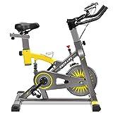 IDEER LIFE Speedbike, Indoorcycling Bike, Spinning Bike, Heimtrainer Fahrrad, Fitness Gerät für Zuhause, 15KG Schwungrad (09061-Gelb)