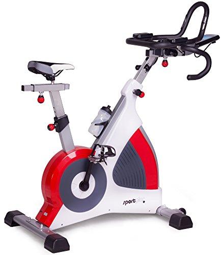 SportPlus Indoor Speedbike Cycle - Fahrradergometer in Studioqualität - wartungsfrei & leise - Widerstand bis 500 Watt - Triathlonlenker - Klickpedale - Cardio Heimtrainer - Fitnessfahrrad, TÜV-geprüft - SP-SRP-3000