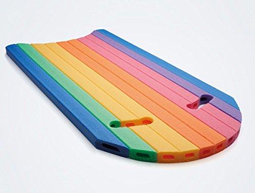 Schwimmbrett Comfy Twin Schwimmhilfe mit 2 Griffen | in Regenbogenfarben