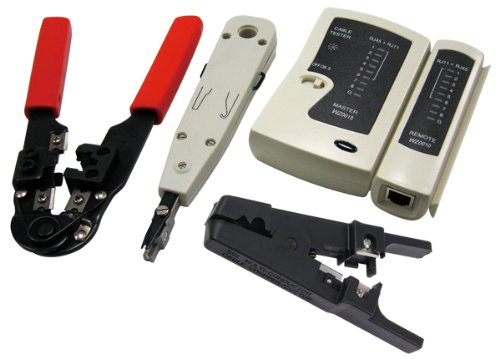 LogiLink Netzwerk Werkzeug Set mit Tasche