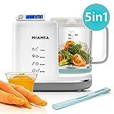 MiaMia Babynahrungszubereiter Babykostwärmer 5in1 - Baby Dampfgarer Dampfsterilisator (900 ml) und Mixer zum Kochen, Warmhalten und Aufwärmen von Babynahrung