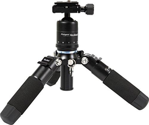 Rollei Compact (ehemals M5-Mini, Aluminium Mini-Stativ, mit geringem Packmaß und sehr stabil, inkl. Kugelkopf und Stativtasche) schwarz