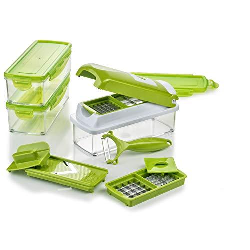 Genius Nicer Dicer Smart | 13 Teile | Obstschneider | Zwiebelschneider | Pommesschneider | Tomatenschneider | Gemüseschneider | Bekannt aus TV