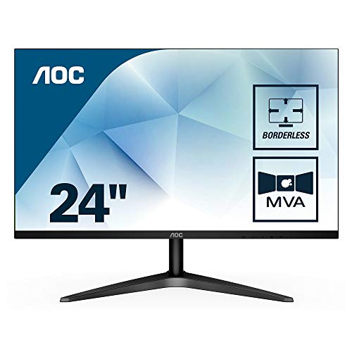 AOC 24B1H 59,9 cm (24 Zoll) Monitor (VGA, HDMI, MVA Panel, 1920 x 1080, 60 Hz) schwarz