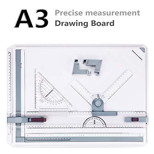 Hiriyt A3 Zeichenplatte Zeichenbrett DIN A3 Zeichentisch Professionell Arbeiten Schnellzeichenplatte 49 x 35,5 x 1,3 cm