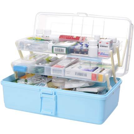 GODNECE Hausapotheke Box Medizinbox Groß Aufbewahrungsbox Medizin Medizinkoffer