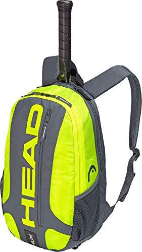 HEAD Elite Rucksack/Tennisschlägertasche, Unisex, 283759GRNY, Grau/Neon-Gelb, Einheitsgröße