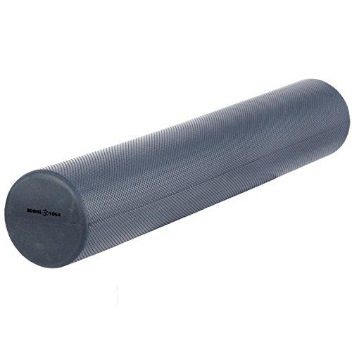 Faszien-Rolle, 90 cm lang, Pilates-Rolle, Ø 15 cm, Faszien Rolle, silber-grau / anthrazit, professionelles Standard-Trainingsgerät für Pilats- und Faszien-Training, Fitness-Training