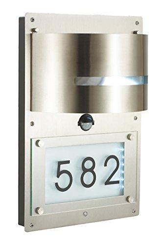 Außenleuchte E27 Edelstahl Lampe Wandleuchte Außenlampe Gartenlampe LED Leuchte (Wandlampe Hausnummer BWG)
