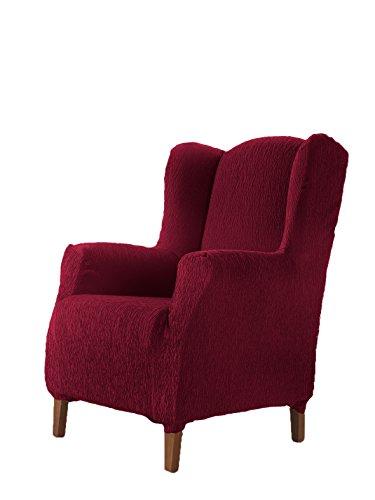 Textilhome - Stretchhusse für Ohrensessel TEIDE , 1 Sitzer - 70 a 100Cm. Farbe Rot