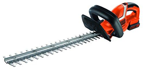 Black+Decker Akku Heckenschere GTC1845L20 mit E-Drive Technologie zum Schneiden harter und dicker Äste sowie mittlerer bis großer Hecken / 18mm Schnittstärke / 18V / 2,6kg leicht