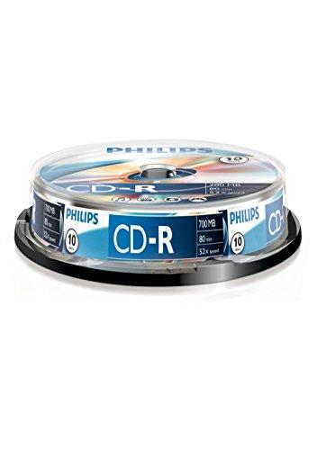 Philips CR7D5NB10/00 CD-R Rohlinge 80 Min 52x 700MB  10er Spindel