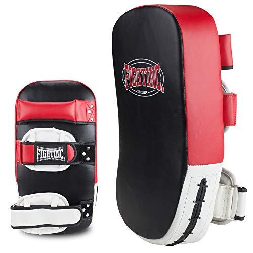 Fightinc. Schlagpolster Thai Pad Extreme Paar - 2 Stück Professionelle Unterarmpratze aus für das Kick- und Thaiboxen