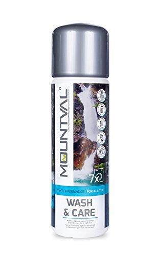 Mountval Wash & Care – Imprägnierwaschmittel für z.B. Sport Kleidung, Funktionskleidung, Funktionsjacken oder Outdoor Ausrüstung – Goretex Membran Waschmittel