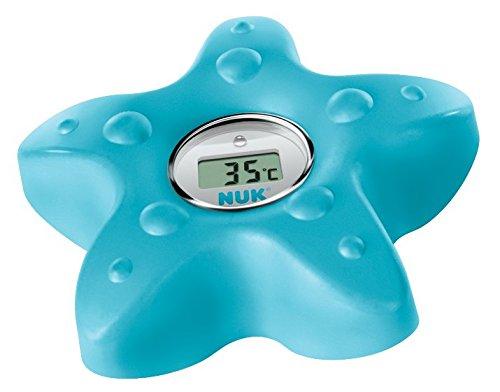 NUK 10256379 Digitales Badethermometer, zum Messen der Wasser-Temperatur, petrol