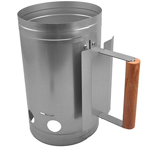 broil-master Grill-Kohleanzünder mit hitzebeständigem Griff Kohleanzünder Grillanzünder für BBQ Grills von Jago