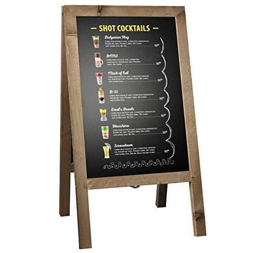 DISPLAY SALES Kundenstopper Holz 46x80 cm Aufsteller Holztafel Werbetafel Kreidetafel Werbeaufsteller