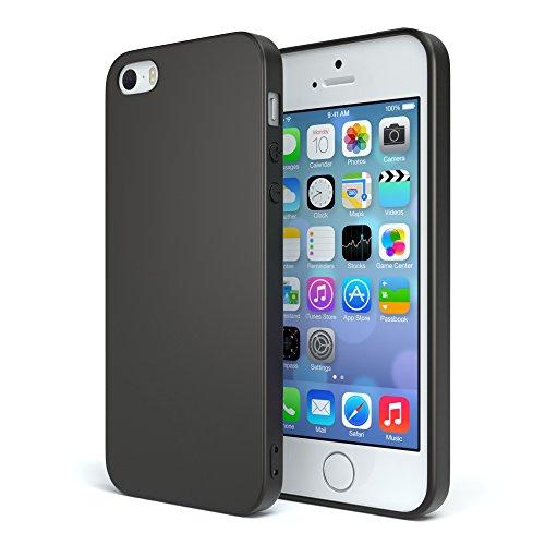 Handyhülle Silikon mit Kameraschutz Apple iPhone 5 / iPhone 5S / iPhone SE in schwarz matt, ultra dünn, Slimcover, Silikonhülle, Hülle, Softcase, Backcover