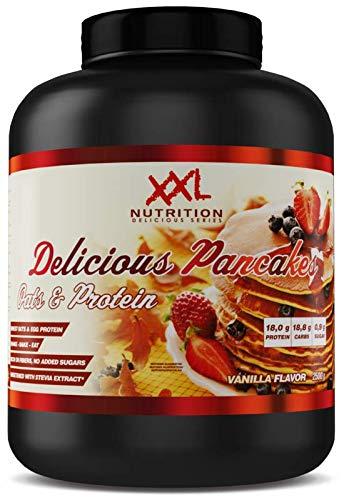 XXL Nutrition Delicious Pancakes | Protein Pancakes Mit Hafer und Ei-Eiweiß | Stevia Vanille 2500g