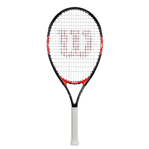 Wilson, Kinder-Tennisschläger, Roger Federer 23, Schwarz/Rot, Für Kinder mit einer Körpergröße von 115 bis 130 cm, WRT200700