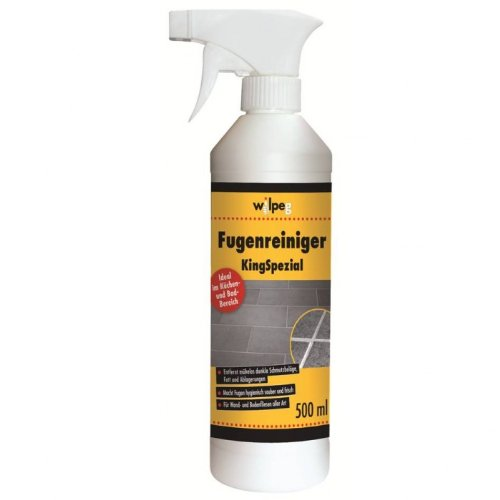 WILPEG Fugenreiniger 500 ml 'KingSpezial' - Reiniger für Fugen - an Wand und Boden - in Bad und Küche, effektive Fugenreinigung, Badreiniger