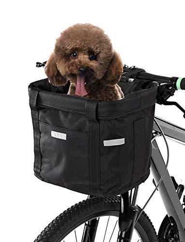 Lixada Fahrradkorb Vorne/Lenkertasche Faltbare Abnehmbare wasserdichte Fahrrad Gepäckträger Korb Pet Carrier Frame Bag