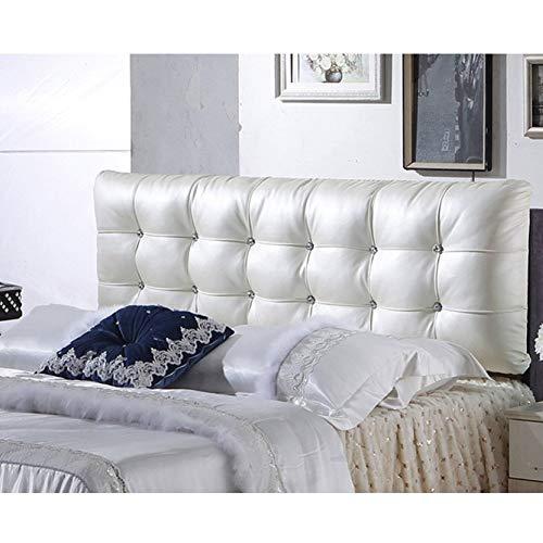 lquide Cube Kopfteil Kissen Leder Bett Rückenlehne Waschbar Rucksack Soft Bag Farbe Größe Optional Keil Kissen Zum Lesen,Milkywhite-1.3m