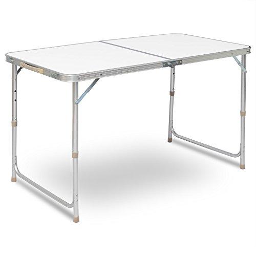 WOLTU Campingtisch Klapptisch Gartentisch Arbeitstisch Balkontisch höhenverstellbar Aluminium MDF CPT8122sg
