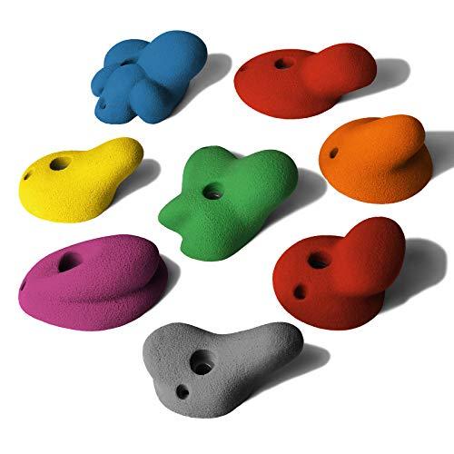 ALPIDEX 8 XL Klettergriffe im Set Henkelgriffe Tiefe bis mitteltiefe Hinterschneidungen, Farbe:Mixed Colour