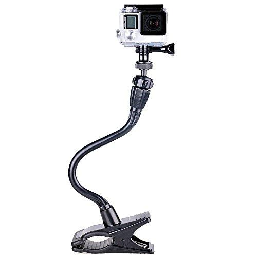 Smatree Verstellbare Jaws Flex Klemmhalterung mit 13,4' Schwanenhals-Erweiterung für GoPro Hero 5, 4, 3+, 3, 2, 1, Session / für Kompaktkameras(1/4' Gewinde)