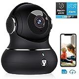 Überwachungskamera, Littlelf WLAN IP Kamera 1080P HD WiFi Kamera mit 360°Schwenkbare Baby Monitor, Zwei-Wege-Audio, Bewegungserkennung, Nachtsicht, unterstützt Fernalarm und Mobile App Kontrolle