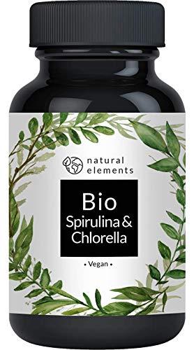 Bio Spirulina & Chlorella Presslinge - 500 Tabletten - Zertifiziert Bio, ohne Zusätze, hochdosiert, vegan und hergestellt in Deutschland