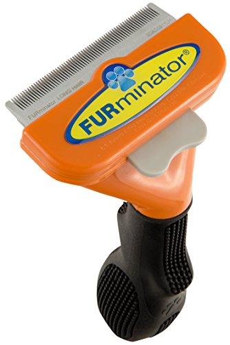 FURminator deShedding Hundebürste / Hundefellpflege in Größe M zur einfachen Entfernung von losen Haaren und Unterwolle - für Hunde mit langen Haaren