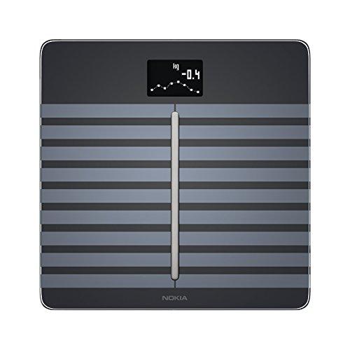 Nokia Body Cardio - WLAN-Körperwaage mit Funktion für Körperzusammensetzung & Herzfrequenz - Schwarz